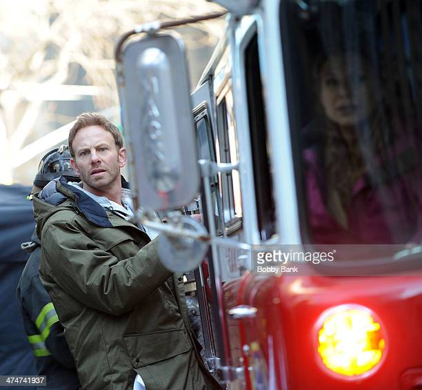 Ian Ziering on the set of 'Sharknado 2 The Second One' on February 24 2014 in New York City