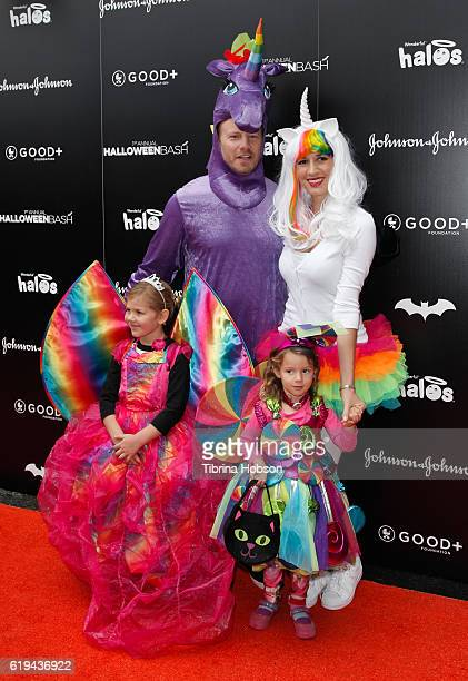 Ian Ziering rin Kristine Ludwig and their children attend the GOOD Foundation's 1st Halloween Bash at Sunset Gower Studios on October 30 2016 in...