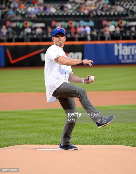 ONE 'Ian Ziering Throws First Pitch at Citi Field' Pictured Ian Ziering