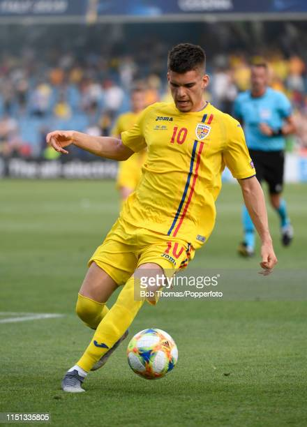 Ianis Hagi in action for Romania during the 2019 UEFA U21 Group C match between England and Romania at Dino Manuzzi Stadium on June 21 2019 in Cesena...