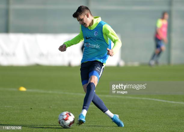 Ianis Hagi of KRC Genk controls the ball during the KRC Genk winter training camp on January 8 2020 in Benidorm Spain