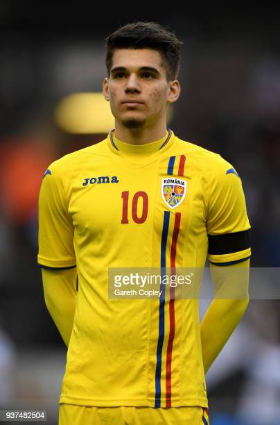 Ianis Hagi of Romania during the International Friendly between England U21 and Romania U21 at Molineux on March 24, 2018 in Wolverhampton, England.