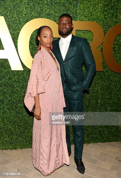 Iantha Richardson and Sinqua Walls attend the MACRO PreOscar Party 2019 at Casita Hollywood on February 21 2019 in Los Angeles California
