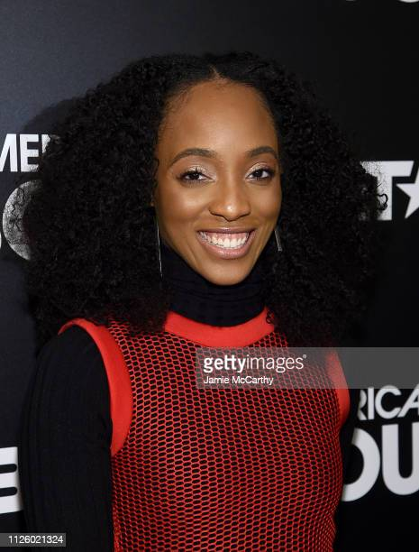 Iantha Richardson attends BET's American Soul New York Premiere at New World Stages on January 29 2019 in New York City