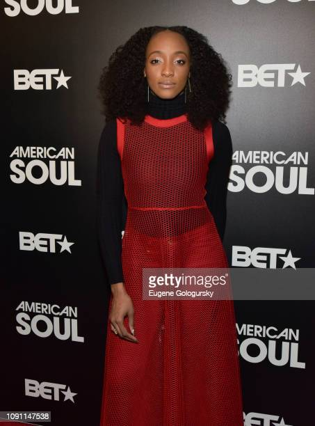 Iantha Richardson attends the BET American Soul NYC Screening Event on January 28 2019 in New York City