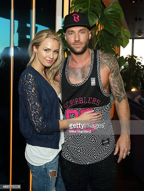 Ianthe Rose CochraneStack and Calum Best attend the New Look Men's party at Mondrian Hotel on April 14 2015 in London England