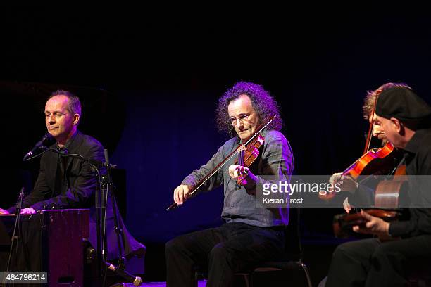 Iarla O Lionaird and Martin Hayes of The Gloaming perform on stage at National Concert Hall on February 28 2015 in Dublin Ireland