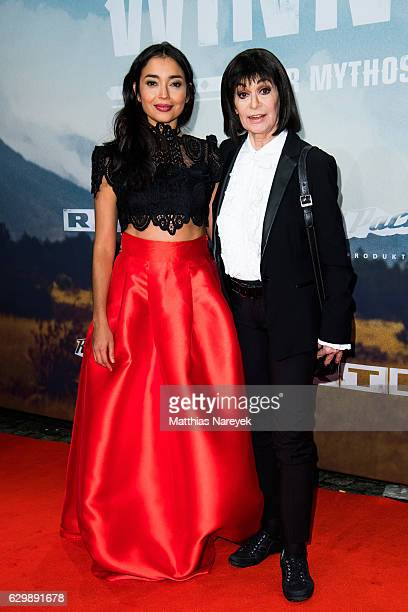 Iazua Larios and Marie Versini attend the 'Winnetou Eine neue Welt' premiere at Delphi on December 14 2016 in Berlin Germany