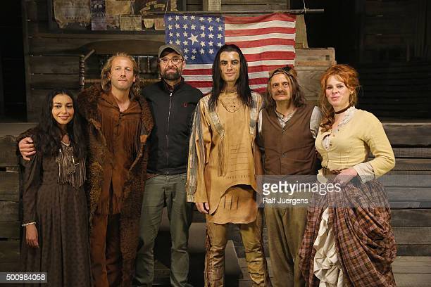 Iazua Larios, Wotan Wilke Moehring, director Philipp Stoelzl, Nik Xhelilaj, Milan Peschel and Henny Reents pose during a photo call for the...