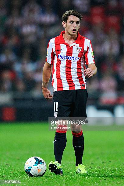 Ibai Gomez of Athletic Club runs with the ball during the La Liga match between Athletic Club and RC Celta de Vigo at San Mames Stadium on September...