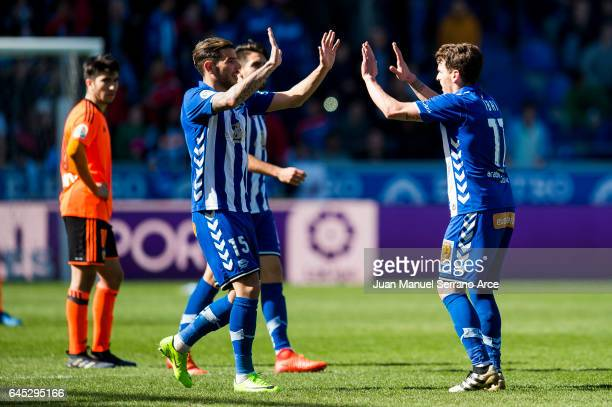 Ibai Gomez of Deportivo Alaves celebrates after scoring goal during the La Liga match between Deportivo Alaves and Valencia CF at Mendizorroza...
