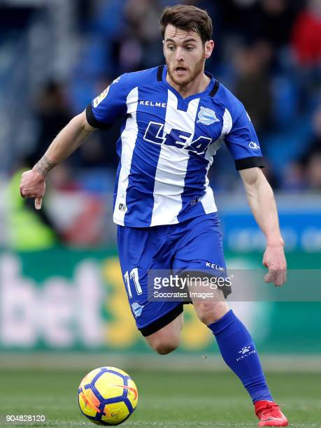 Ibai Gomez of Deportivo Alaves during the La Liga Santander match between Deportivo Alaves v Sevilla at the Estadio de Mendizorroza on January 14...