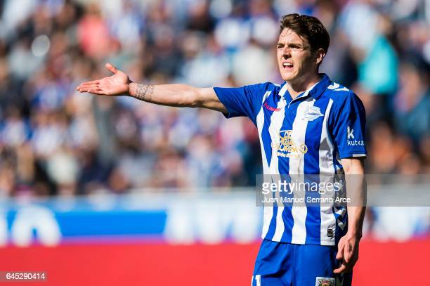 Ibai Gomez of Deportivo Alaves reacts during the La Liga match between Deportivo Alaves and Valencia CF at Mendizorroza stadium on February 25 2017...