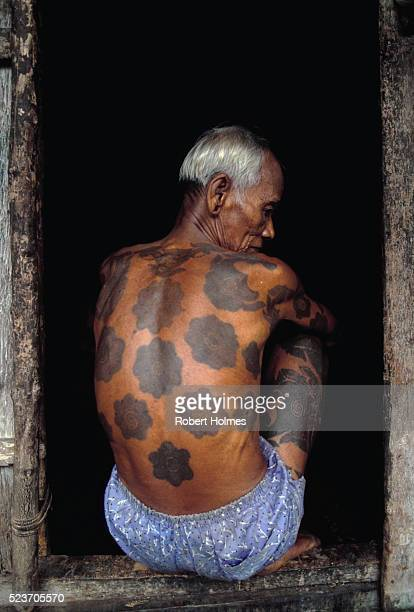 Iban Man With Tattooed Back