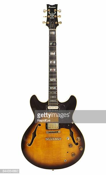 1981 ibanez artist as-200 semi-hollow electric guitar - electric guitar stock pictures, royalty-free photos & images