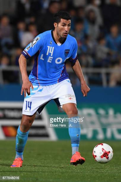 Ibba of Yokohama FC in action during the JLeague J2 match between Yokohama FC and Ehime FC at Nippatsu Mitsuzawa Stadium on May 3 2017 in Yokohama...