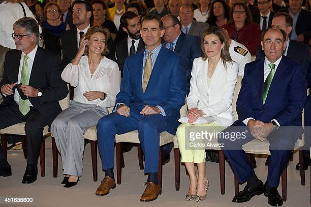 Iberdrola Foundation President Manuel Marin Spanish Agriculture and Environment Minister Isabel Garcia Tejerina King Felipe VI of Spain Queen Letizia...