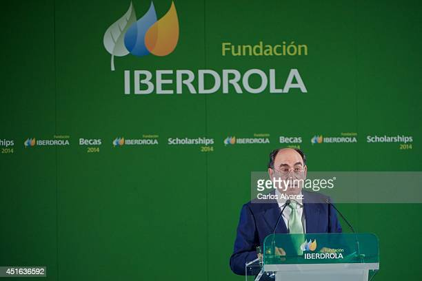 Iberdrola President Ignacio Sanchez Galan attends the Investigation Scholarships of Iberdrola Foundation at Casa de America on July 3 2014 in Madrid...