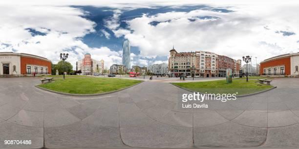 iberdrola tower and museum of fine arts. Bilbao. Spain