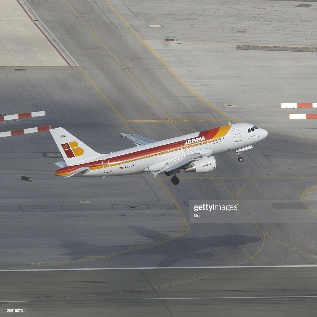 Iberia Plane Taking Off : Stock Photo