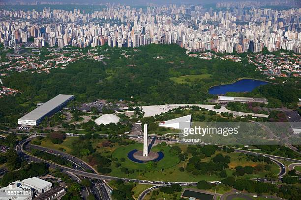 ibirapuera park in sao paulo - ibirapuera park stock pictures, royalty-free photos & images