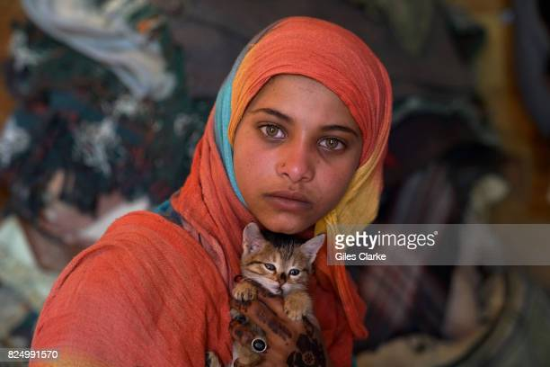 Ibitsam a 15 year old orphan girl who fled the northern Yemeni city of Saada a Houthi stronghold that was attacked 2 years ago after intense fighting...