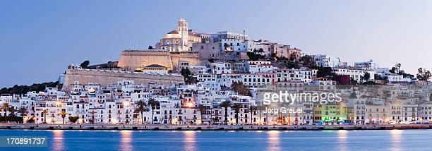 Ibiza Town at dusk
