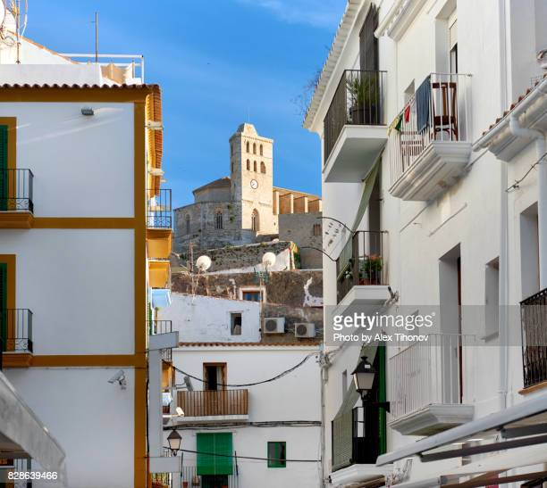 ibiza town - whitewashed stock photos and pictures