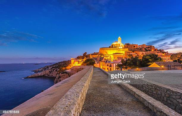 ibiza - way into dalt vila - ibiza island stock pictures, royalty-free photos & images