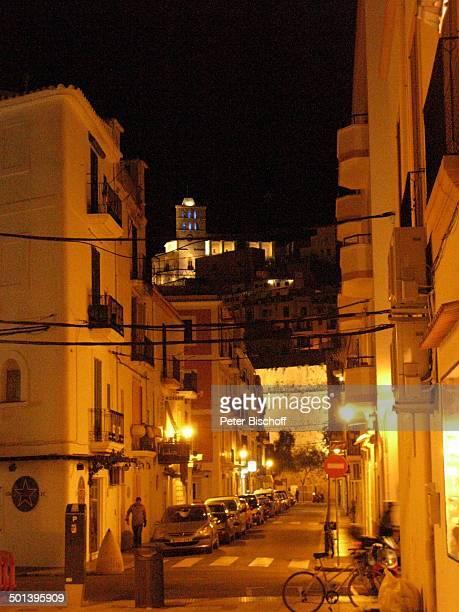 Ibiza-Stadt bei Nacht, Balearen, Spanien, Europa, nachts beleuchtet, Insel, Reise, AS, DIG; P.-Nr.: 663/2010, ;