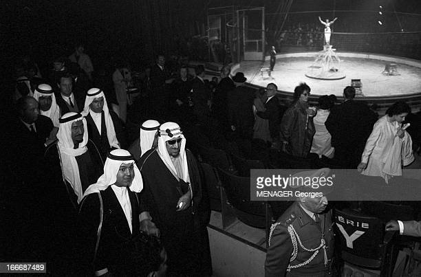 Ibn Saud Of Saudi Arabia At The Moscow Circus En avril 1963 Abdelaziz ben Abderrahman ben Fayçal AL SAOUD appelé aussi Ibn SAOUD ou Ibn SEOUD...