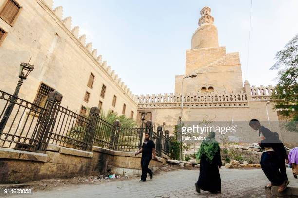 ibn tulun minaret - dafos stock photos and pictures