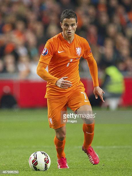Ibrahim Afellay of Holland during the UEFA Euro 2016 qualifying match between Netherlands and Turkey on March 28 2015 at the Amsterdam Arena at...
