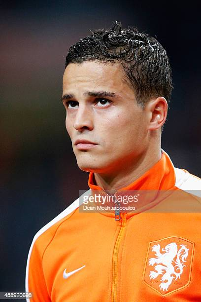 Ibrahim Afellay of Netherlands stands for the national anthems prior to the international friendly match between Netherlands and Mexico held at the...