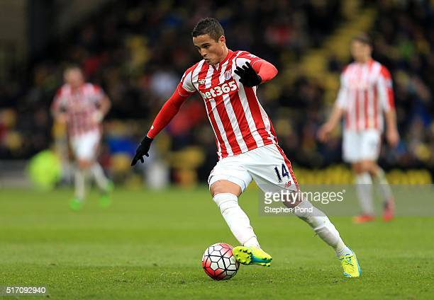 Ibrahim Afellay of Stoke City during the Barclays Premier League match between Watford and Stoke City at Vicarage Road on March 19 2016 in Watford...