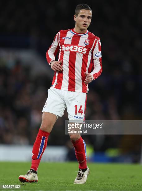 Ibrahim Afellay of Stoke City during the Premier League match between Chelsea and Stoke City at Stamford Bridge on December 30 2017 in London England