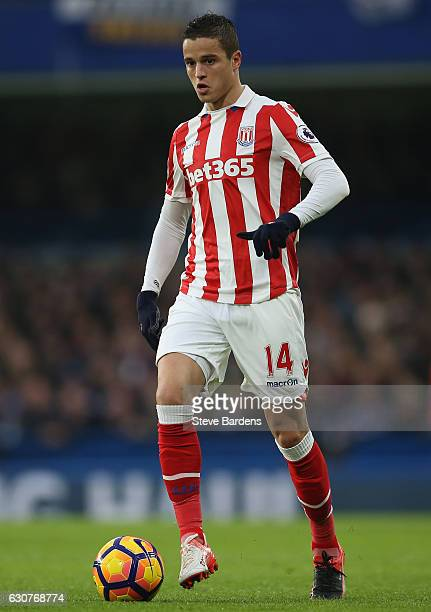 Ibrahim Afellay of Stoke City in action during the Premier League match between Chelsea and Stoke City at Stamford Bridge on December 31 2016 in...
