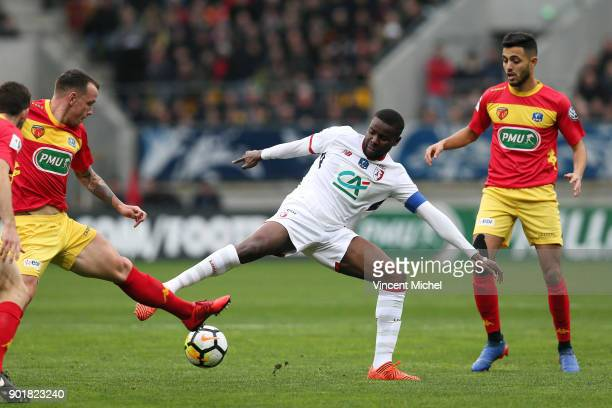 Ibrahim Amadou of Lille during the french National Cup match between Le Mans and Lille on January 6 2018 in Le Mans France