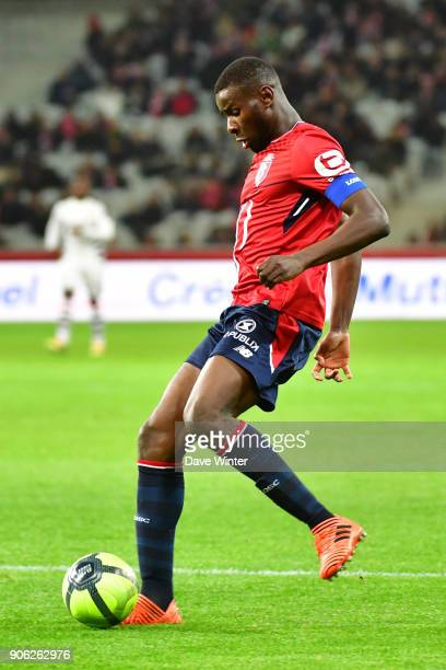 Ibrahim Amadou of Lille during the Ligue 1 match between Lille OSC and Stade Rennais at Stade Pierre Mauroy on January 17 2018 in Lille France