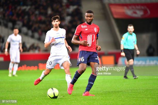 Ibrahim Amadou of Lille during the Ligue 1 match between Lille OSC and Strasbourg at Stade Pierre Mauroy on January 28 2018 in Lille France