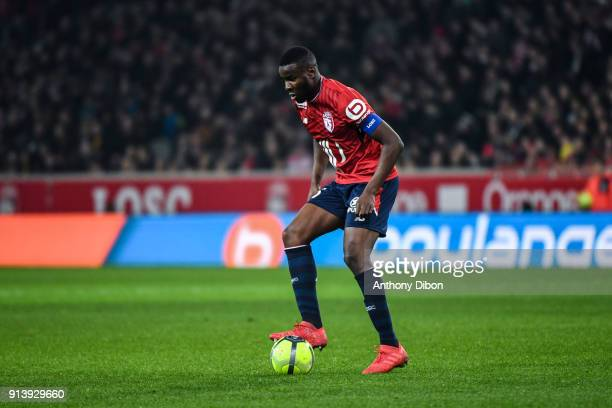 Ibrahim Amadou of Lille during the Ligue 1 match between Lille OSC and Paris Saint Germain PSG at Stade Pierre Mauroy on February 3 2018 in Lille