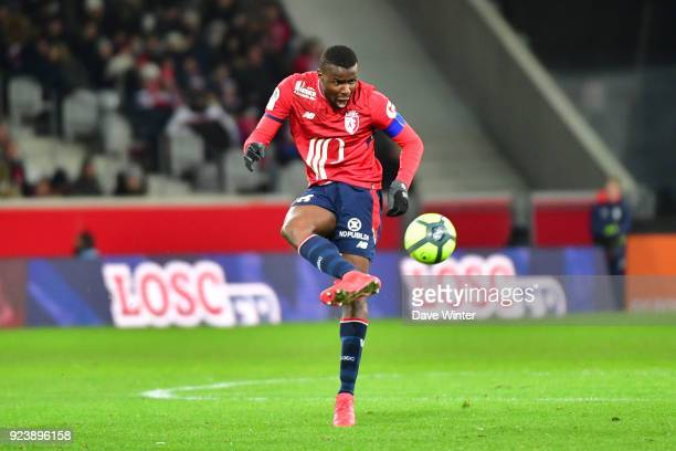 Ibrahim Amadou of Lille during the Ligue 1 match between Lille OSC and Angers SCO at Stade Pierre Mauroy on February 24 2018 in Lille France