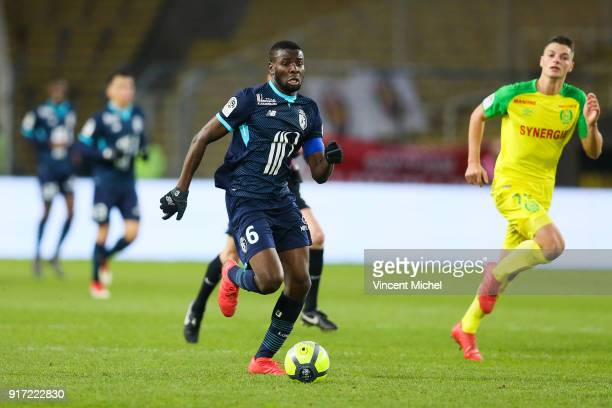 Ibrahim Amadou of Lille during the Ligue 1 match between Nantes and Lille OSC at Stade de la Beaujoire on February 11 2018 in Nantes