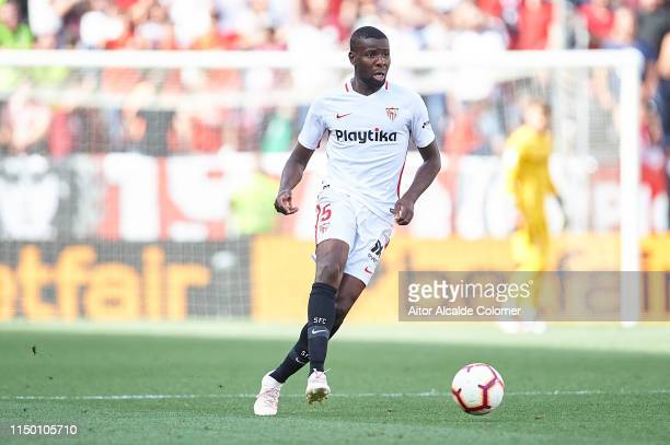 Ibrahim Amadou of Sevilla FC in action during the La Liga match between Sevilla FC and Athletic Club at Estadio Ramon Sanchez Pizjuan on May 18 2019...