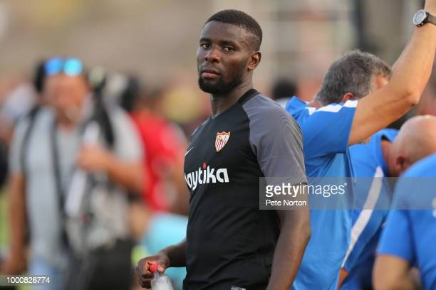 Ibrahim Amadou of Sevilla FC looks on at half time during the PreSeason Friendly match between Sevilla FC and Real Murcia at Real Club de Golf...