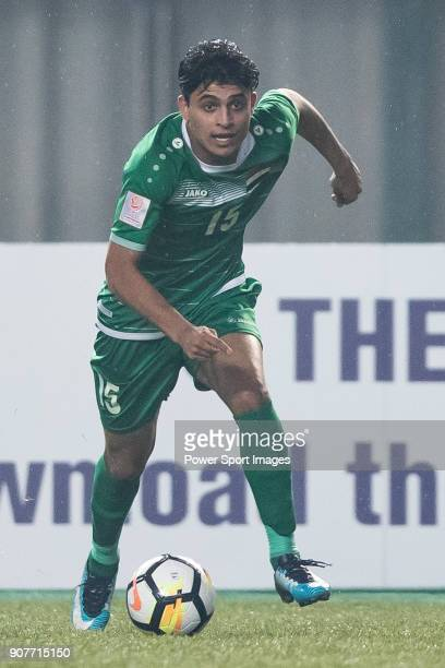 Ibrahim Bayesh of Iraq in action during the AFC U23 Championship China 2018 Group C match between Iraq and Jordan at Changshu Sports Center on 16...
