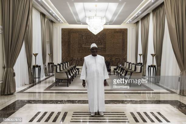 Ibrahim Boubacar Keita Mali's president pauses during an interview in Bamako Mali on Wednesday Sept 19 2018 Mali is the thirdbiggest gold producer in...