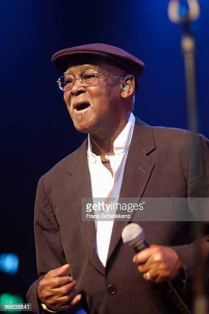 Ibrahim Ferrer performs live on stage with the Buena Vista Social Club at the North Sea Jazz festival in the Hague, Holland on July 08 2005