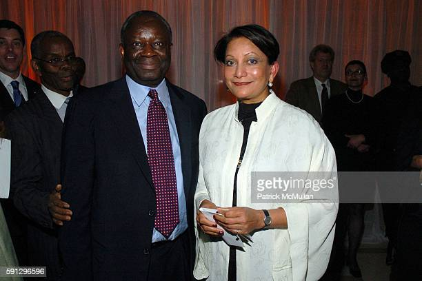 Ibrahim Gambari and Sabiha Foster attend Diamonds for Humanity Gala at Avery Fischer Hall at Lincoln Center on April 13 2005 in New York City