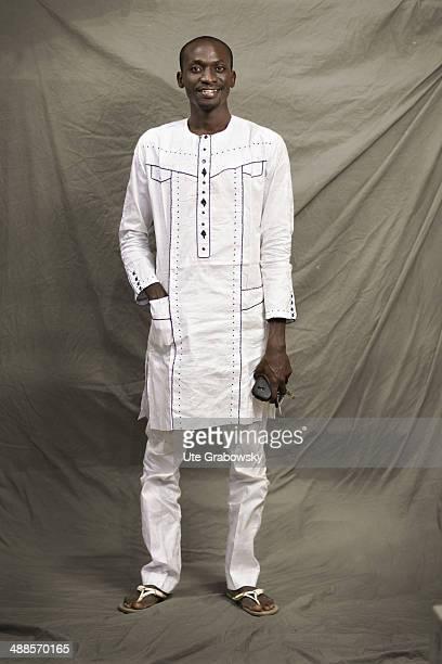 Ibrahim Idi Kabo 32 years old from Niger poses during SAFEM Salon international de l'artisanat pour la femme trade fair on December 07 2013 in Niamey...